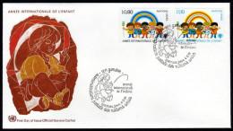 UNO GENF 1979 - Internationales Jahr Des Kindes - MiNr.83-84 FDC - Kind & Jugend