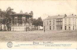 Ciney Grand'placecafé Du Tribunal Kiosque Voir Verso Post Militaire - Ciney