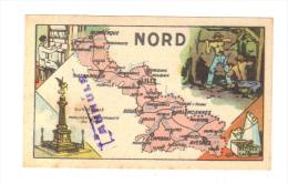 Image Du Chocolat Turenne De Sedan: Carte Departementale Du Nord, Lille, Valenciennes, Avesnes, Cambrai (14-3712) - Chocolate