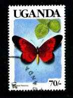 UGANDA - Farfalle - Butterfly - Usato - Used.. - Farfalle