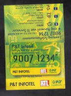 LUXEMBOURG - GIFT CARD  FOR COLLECTION - (  P&T INFOTEL ) - Gift Cards