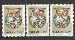 BRASILIEN Mi-Nr. 1492 X 3 Brasilianische Archäologische Entdeckungen Postfrisch - Archäologie