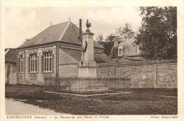 RIBEAUCOURT LE MONUMENT AUX MORTS ET L'ECOLE - Autres Communes