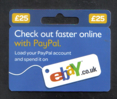 GREAT BRITAIN - GIFT CARD  FOR COLLECTION - (  EBAY  ) - Gift Cards