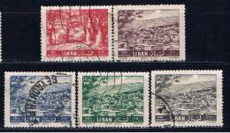 RL+ Libanon 1961 Mi 735 737-40 Zedern - Lebanon