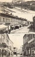 411Po    30 Alais 3 Vues Gare Rue Hotel De Ville Et Rue St Vincent - Non Classés