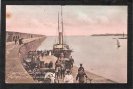 ALDERNEY AURIGNY ARRIVAL OF THE COURIER MAILBOAT FERRY SHIP L'arrivée Du Courier - Alderney