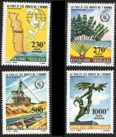 TOGO 1985 HUMAN RIGHTS SC#C510-13 MNH CV$13.40 UNO/ONU, MINING, TREE (3ALL) - Togo (1960-...)