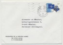 BELGIQUE - 2 Enveloppes Affranchies 30F OTAN - Port Simple 1979 / Exprès 1980 - Délégation Norvège OTAN - Brieven En Documenten