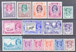 BRITISH  B URMA  51-65       * - Burma (...-1947)