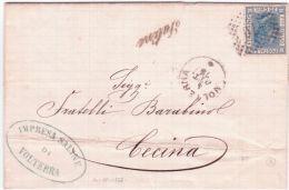 1875- COLLETTORIE -  Saline  ( Di Volterra )  ( P I ) - Marcophilia