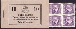 Sweden BK H040 CC O** 1939 Berzelius C275a - Carnets