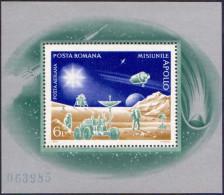 ROMANIA, 1972, Highlights Of US Apollo Space Program, COSMOS & SPACE, Astronauts, Souvenir Sheet,, LPMP/Sc 815/C192 - 1948-.... Republics