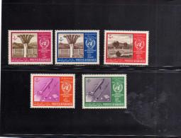 AFGHANISTAN - AFGANISTAN - AFGHAN POST 1963 UN METEOROLOGY WORLD METEROLOGICAL DAY SET OF 5 GIORNATA METEOROLOGIA MNH - Afghanistan