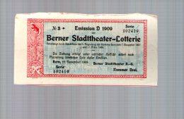 Billet De Loterie 07/12/1907 Bern - Suisse - Biglietti Della Lotteria
