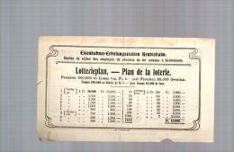 Billet De Loterie 14/07/1906 Chemins De Fer Suisses à Grubisbalm Sur Le Rigi - Suisse - Biglietti Della Lotteria