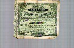 Billet De Loterie 1907 Création Caisse Retraite Employés Cie Genevoise De Tramways - Genève - Suisse - Biglietti Della Lotteria