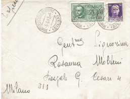1942 ESPRESSO CON ANN. MONTEPULCIANO STAZIONE SIENA - Storia Postale