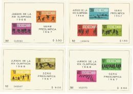 MEXIQUE  4 BLOCS NEUFS NON DENTELES JEUX OLYMPIQUES 1968 - Ete 1968: Mexico