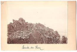 Dépt 29 - PLOGOFF - Pointe Du Raz - PHARE - Photographie Collée Sur Carton D´origine, 1904 - Photo - Plogoff