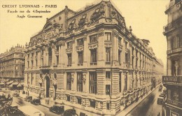 CPA Paris - Crédit Lyonnais - Façade Rue Du 4 Septembre - Angle Grammont - Francia
