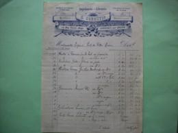 AVESNES SUR HELPE G. GENESTIN IMPRIMERIE-LIBRAIRIE PAPETERIE MAROQUINERIE 13 RUE VICTOR HUGO FACTURE - Imprimerie & Papeterie