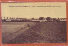 Carte Postale 59. Wormhoudt Le Préventorium  Dépendances De La Ferme Et L'entrée Principale Trés Beau Plan - Wormhout