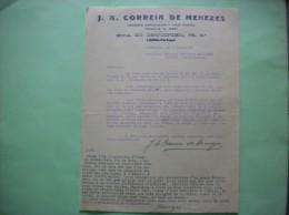 LISBOA  J.A.CORREIA DE MENEZES COMISSOES CONSIGNACOES E CONTA PROPRIA RUA DO CRUCIFIXO COURRIER DU 8 JUIN 1928 - Portugal