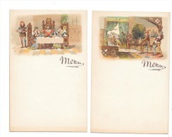 7118 - 2 Beaux Menus Illustrés, - Menu