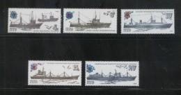 USSR SOVIET UNION 1983 FISHING VESSELS TRAWLERS SET OF 5 NHM SHIP SHIPS BOAT BOATS ARITIME TRANSPORT - Schiffe