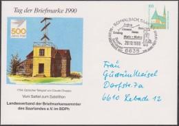 Allemagne 1990. Privatganzsache, Entier Postal Timbré Sur Commande. Télégraphe Optique Chappe, Metz à Mayence - Télécom
