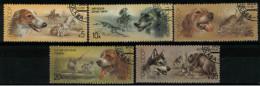 *A12* -  Russia &URSS 1988 -  Cani E Scene Di Caccia - 5 Val. Oblit. - Perfetti - Usati