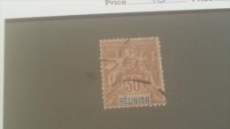 LOT 234299 TIMBRE DE COLONIE REUNION  OBLITERE N�40 VALEUR 13 EUROS