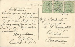 Liedekerke.  -  Institut Des Frères De St-Gabriel;  Pensionnat Externat;  PRACHTIG POSTSTUK 1921 Naar  Brasschaet - Liedekerke