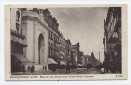 MA ~ Main Street from Union Trust Company SPRINGFIELD Massachusetts c1910 Hampden County