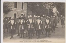 D18-AUBIGNY-GRANDES FETES FRANCO ECOSSAISES CORTEGE HISTORIQUE15.08.1931-LANSQUENETS AVEC BOUCLIERS-état Voir Descriptif - Aubigny Sur Nere