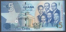 GHANA :  5  Cedis - 2010  - P38 - UNC - Ghana