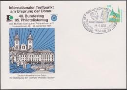 Allemagne 1994. Privatganzsache, Entier Postal Timbré Sur Commande. Château De Donaueschingen, Eglise St Jean,... - Enveloppes