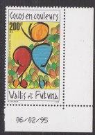Wallis & Futuna 1995 Cocos En Couleurs 1v (corner+printing Date) ** Mnh (18535) - Wallis En Futuna