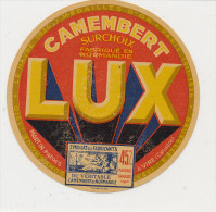 K M 502/ ETIQUETTE  FROMAGE   CAMEMBERT   LUX  MARTIN FRERES A VIRE   CALVADOS - Cheese