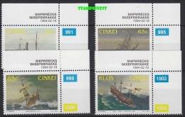 Ciskei 1994 Shipwrecks 4v  (corners)  ** Mnh (18538) - Ciskei