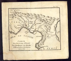 Old Map  SYRIA    SYRIE     MER DE CILICIE           18,5 X 16,5 - Carte Geographique