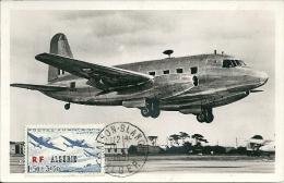 "ALGERIE - T.P. 245c S/Carte Maximum Obl. ""Maison-Blanche-Alger 18.10.1951"" - R.A.F. - Vickers Nene-viking - Algeria (1924-1962)"