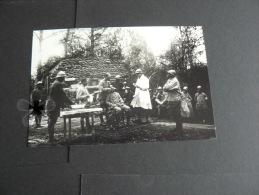 (RETIRAGES) PHOTO PANORAMIQUE GUERRE 14/18 DENTISTE DANS LES TRANCHEES AU CHEMIN DES DAMES  ! - Reproductions