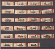 Sigarenbandjes  Nr 1  Tm 24  Compleet : Mercator Thema Treinen. Train. Tram, Locomotive - Vitolas (Anillas De Puros)