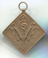 FIGURE SKATING - WIEN, EISLAUF FEREIN, Austria, 1934. Medal, Bronze, Dimension: 40x40mm - Skating (Figure)