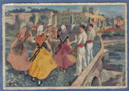 Carte Postale Illustrateur Homualk  La Ronde Du Pont D'Avignon  Trés Beau Plan - Homualk