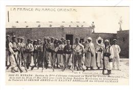 CPA MAROC : EL MERADA : Section Ramenant Les Blessés Marocains Du 17 Mai 1912 Avec 2 Notables Marocains… - Unclassified