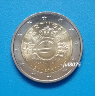 2 Euro Commemorative Portugal 2012 TYE Ten Years Euro PIECE NEUVE UNC - Portugal