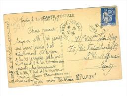 CUIRASSE L'OCEAN 1938 Sur Carte Postale - Marcophilie (Lettres)